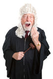 Uttråkad brittisk domare - Arkivfoton
