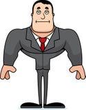 Uttråkad Businessperson för tecknad film vektor illustrationer