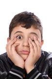 uttråkad pojke Arkivfoto