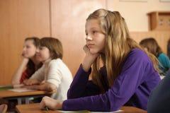 uttråkad schoolgirl Arkivbild