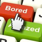 Uttråkad tråkig leda för datorshower eller förbluffar reaktion Royaltyfri Bild