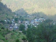Uttrakhand-Dorf Stockbild