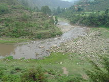 Uttrakhand river. Photograph of a river at uttrakhand Royalty Free Stock Photo