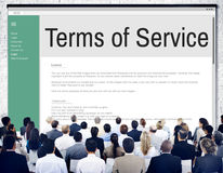 Uttryck av begreppet för reglering för politik för servicevillkorregel royaltyfri foto