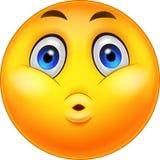 Uttryck för Smiley Emoticon tecknad filmöverraskning Fotografering för Bildbyråer