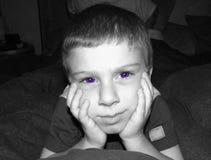 uttryck för 4 childs Arkivfoto