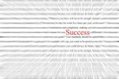 uttrycka för framgång Arkivbilder