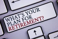 Uttrycka handstiltext vad ÄR ditt plan för avgångfråga Affärsidé för tanke några plan, när du växer gammalt skriftligt på W Arkivfoto