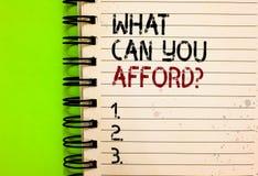 Uttrycka handstiltext vad kan dig ha råd med fråga Affärsidé för Give oss din budget- tillgänglighet av skriftlig svart för penga arkivbilder
