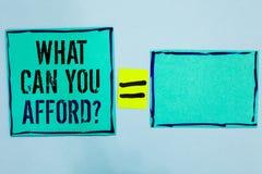 Uttrycka handstiltext vad kan dig ha råd med fråga Affärsidéen för Give oss din budget- tillgänglighet av pengarsvart fodrade grö arkivbilder