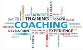 Uttrycka molnet - coachning stock illustrationer