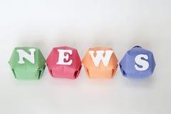 Uttrycka nyheterna Arkivfoton