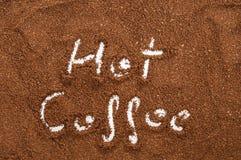 Slipat kaffe för brunt Arkivbilder