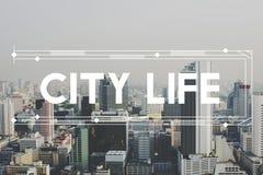 Uttrycker huvudstaden för modern byggnadsarkitektur grafiskt begrepp Arkivfoton