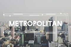 Uttrycker huvudstaden för modern byggnadsarkitektur grafiskt begrepp Royaltyfri Fotografi