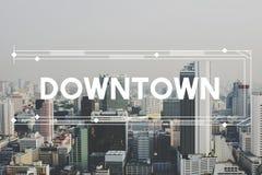 Uttrycker huvudstaden för modern byggnadsarkitektur grafiskt begrepp Arkivbilder