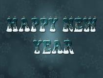 Uttrycker lyckligt nytt år vektor illustrationer