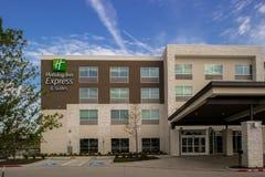 Uttryckliga Holiday Inn och följen Dallas Texas Arkivbild