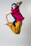 uttrycksfull banhoppning för dansare Royaltyfri Foto