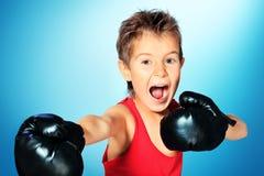 Uttrycksfull boxning Arkivfoto