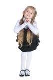 uttrycksfull flicka little Arkivfoto
