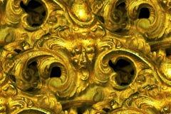 uttrycksfull framsida för abstrakt mässingsdetalj Royaltyfria Bilder