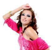 uttrycksfull glamourkvinna Royaltyfria Foton