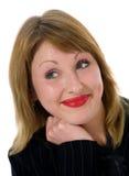 uttrycksfull kvinna Fotografering för Bildbyråer