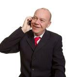 uttrycksfull pensionär för affärsman Arkivfoto