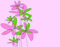 uttrycksfulla blommor Arkivbild