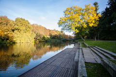 Utumn Landscape. Park in Autumn. The bright colors of autumn in Stock Photography