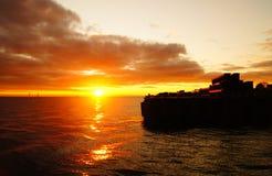 Utumn zonsondergang Ð  royalty-vrije stock afbeeldingen