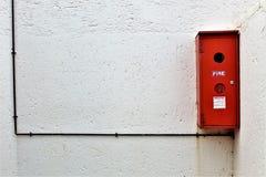 Utvändig brandsläckare arkivbilder