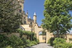 Utvändig Hohenschwangau slott i Bayern, Tyskland Arkivbilder