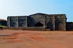 Utvändig sikt av Andhar Bavadi Panhala fort, Kolhapur, Maharashtra Arkivbild