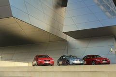 Utvändig sikt av BMW bårdbyggnaden Fotografering för Bildbyråer