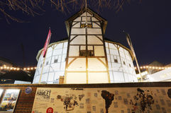 Utvändig sikt av Shakespeares GlobeTheatre Royaltyfri Fotografi