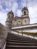 Utvändig sikt från den Bom Jesus kyrkan i Braga norr Portugal Arkivbilder