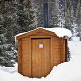 utvändig toalettvildmark Royaltyfri Foto