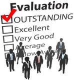 Utvärdering för personalresurser för affärslag bäst stock illustrationer