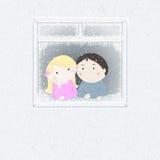 utvändigt snowfönster Royaltyfria Foton