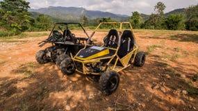 UTV outre de la commande à quatre roues de route Photo libre de droits