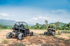 UTV outre de la commande à quatre roues de route Photos libres de droits