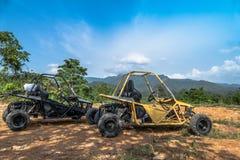 UTV outre de la commande à quatre roues de route Photo stock