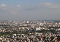 Utveckling av den moderna staden arkivbild