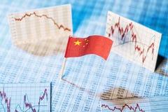 Utveckling av ekonomin i Kina Arkivbild