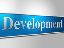 Utveckling framkallar indikerar regenereringframsteg och framkallning vektor illustrationer