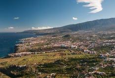 Utveckling på Tenerife, kanariefågelöar Arkivfoto