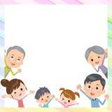 Utvecklingsdjup för familj tre i ram Royaltyfria Foton