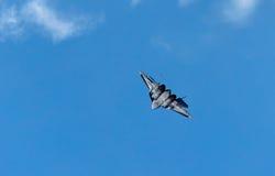 Utvecklingsflygplan för kämpe Su-57 Sukhoi T-50 PAK-FA femte Royaltyfri Foto